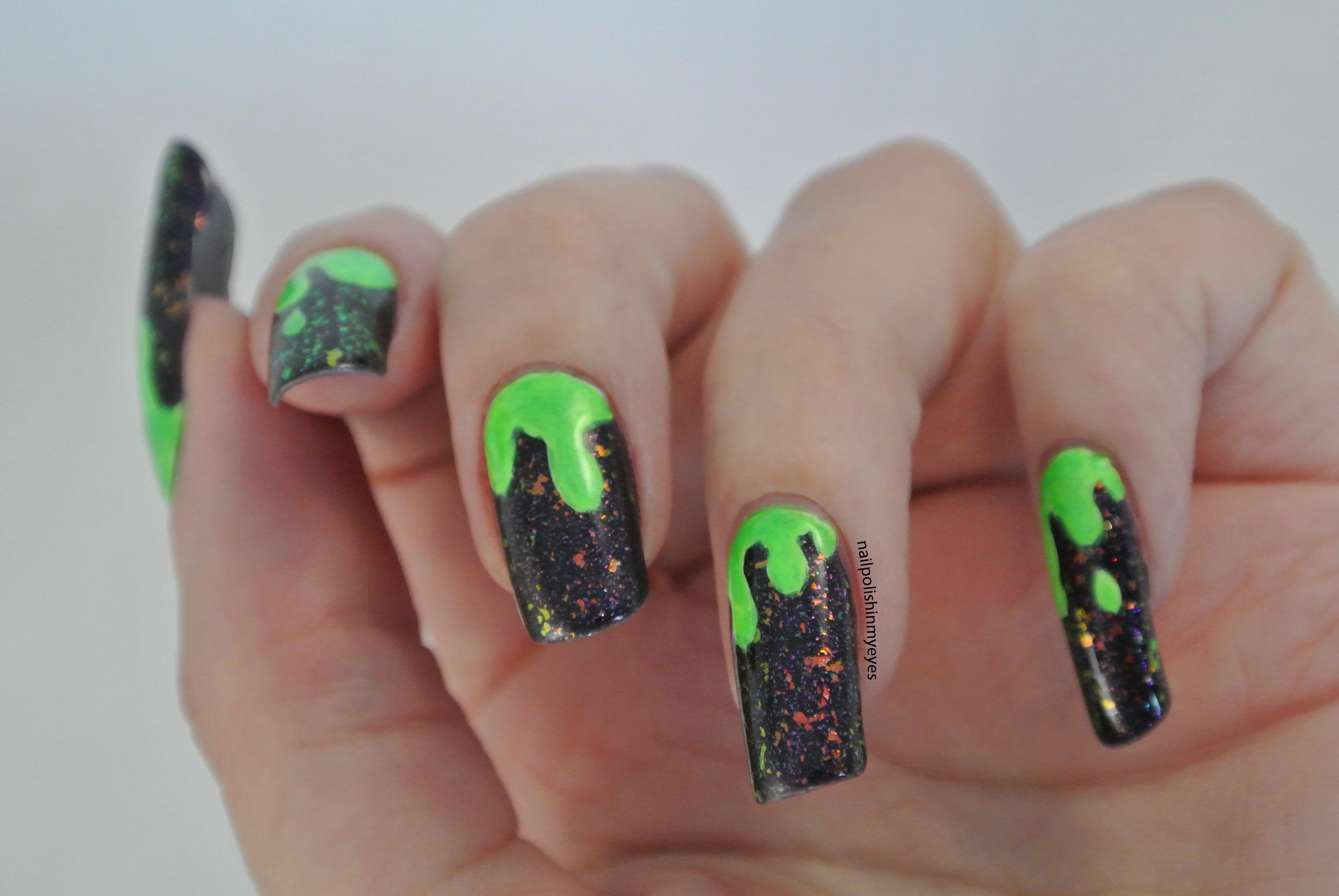 Uñas, manos y pies (dudas y uñas del día) - Página 16 Halloween-green-slime1.2
