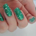 Green-White-Glitter