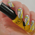 Yellow-White-Black-Stripes