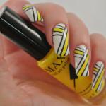 Yellow-White-Black-Stripes