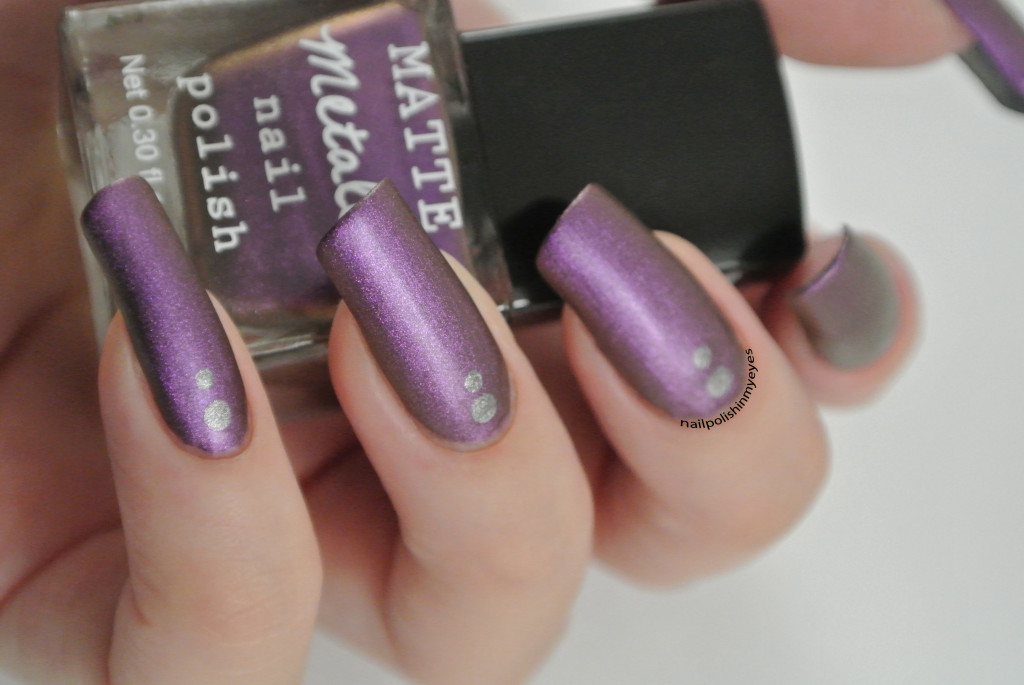 Matte-Purple-Silver-Dots-1