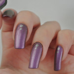 Matte-Purple-Silver-Dots