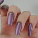 Matte-Purple-Silver-Dots