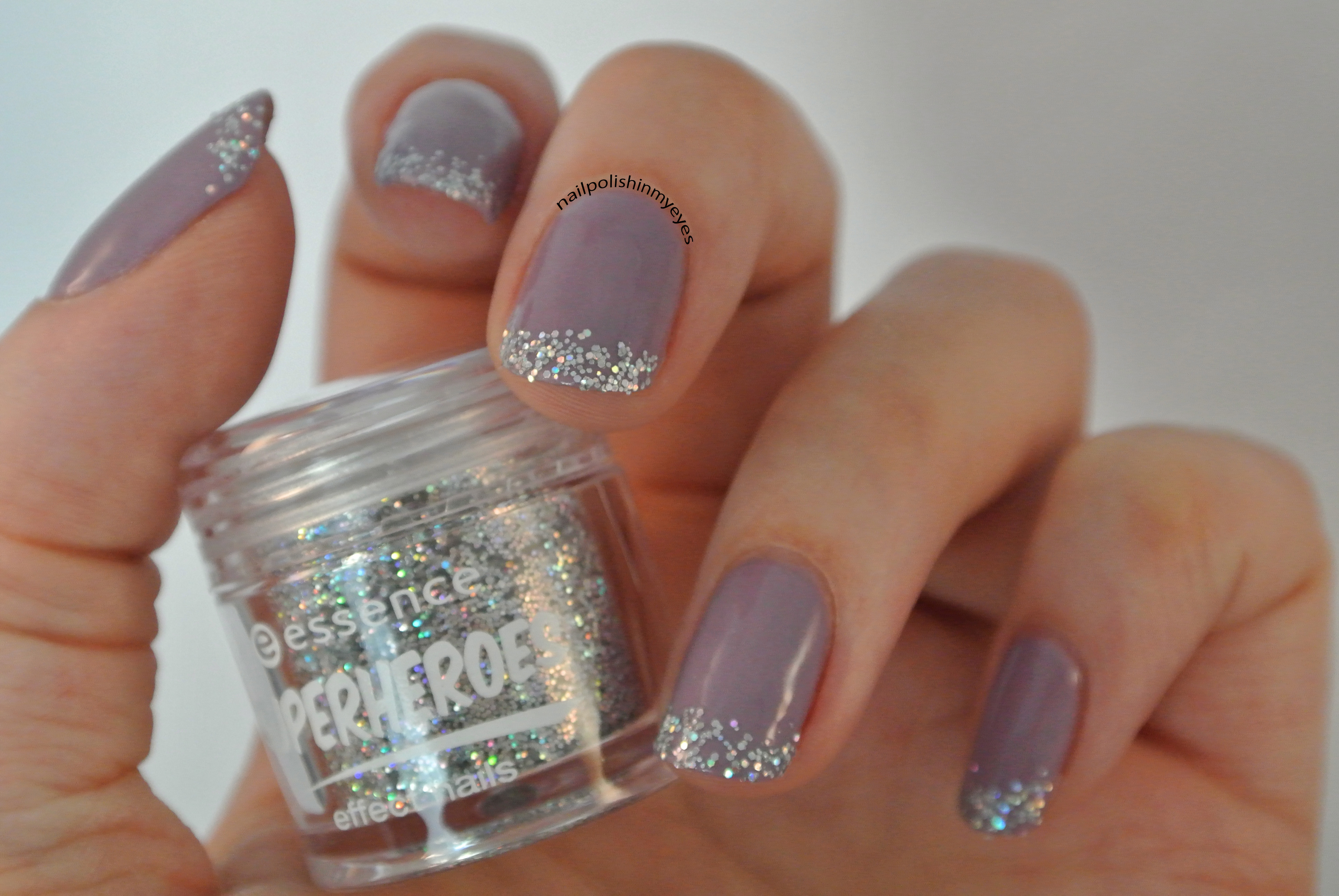 Purple & Glitter French Manicure | Nail Polish in my Eyes