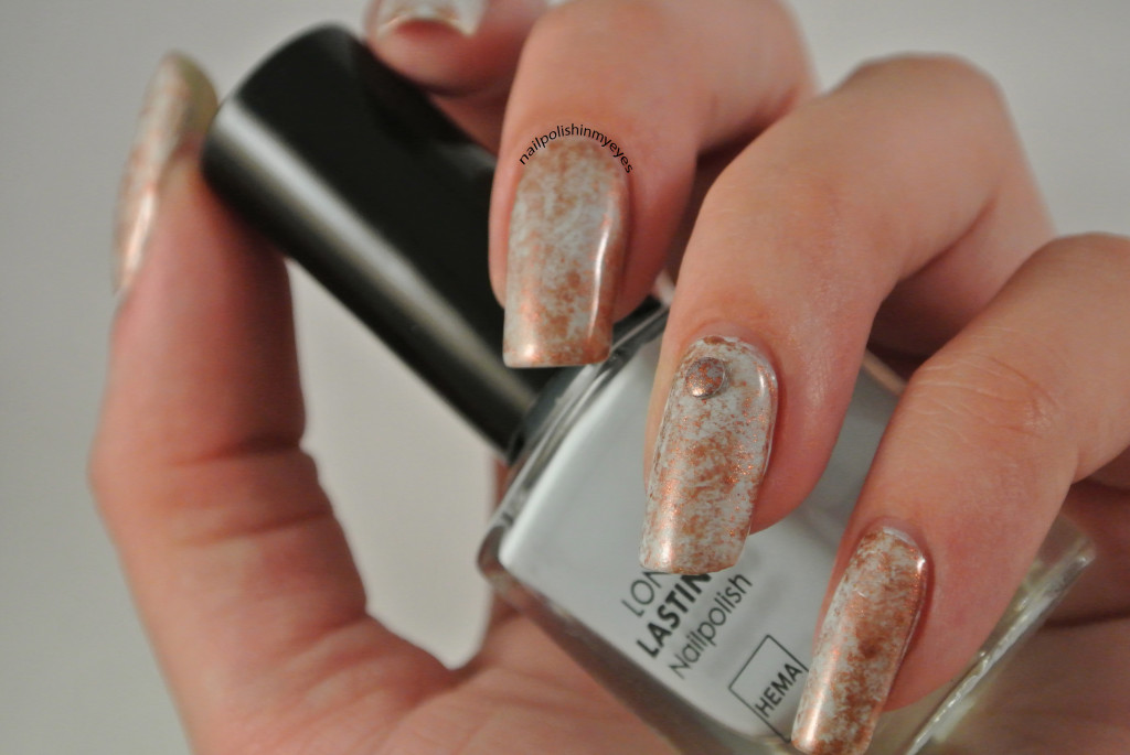 Light Blue Amp Bronze Saran Wrap Studs Review Nail Polish In My Eyes