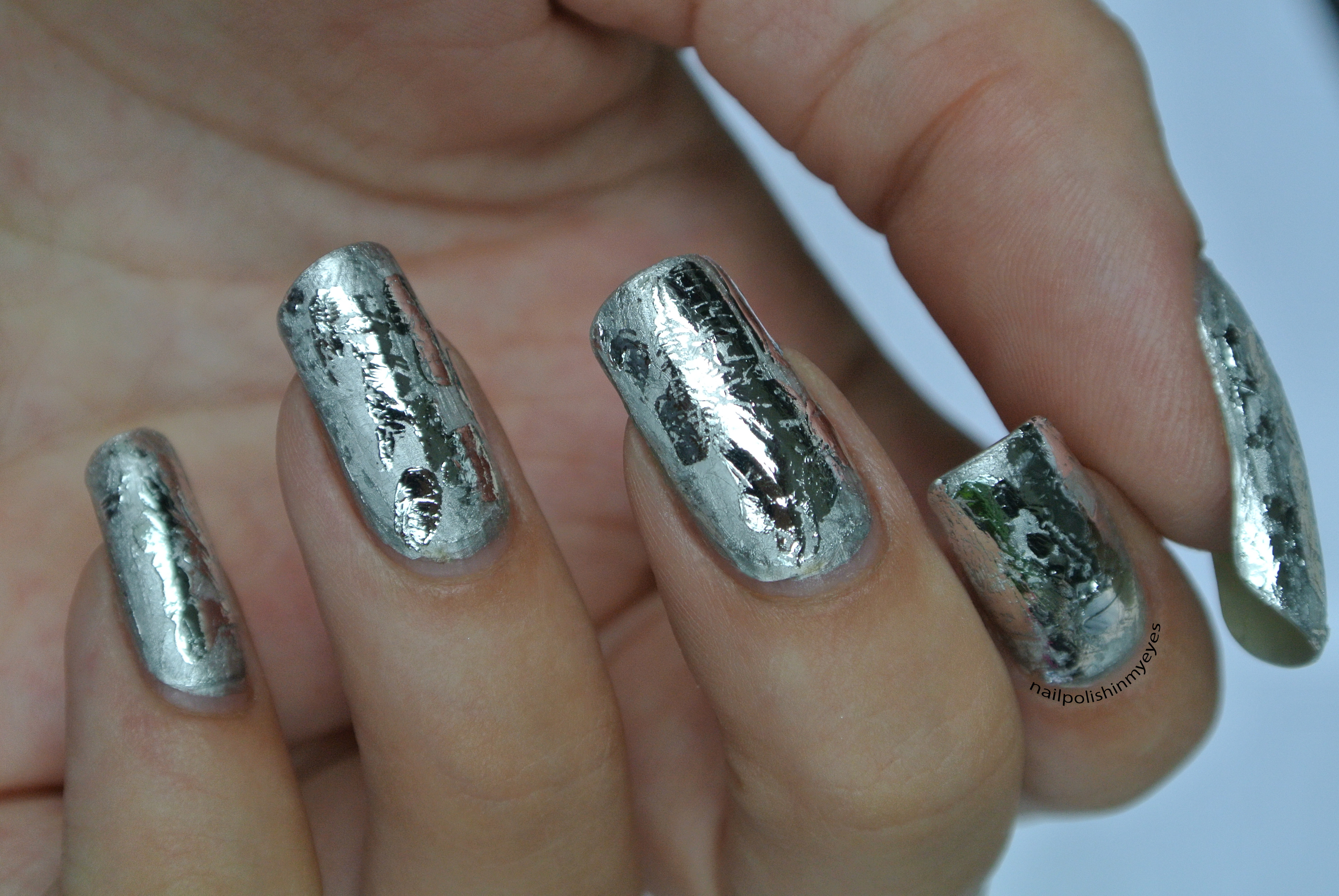 Brushed & Polished Silver Foil   Nail Polish in my Eyes