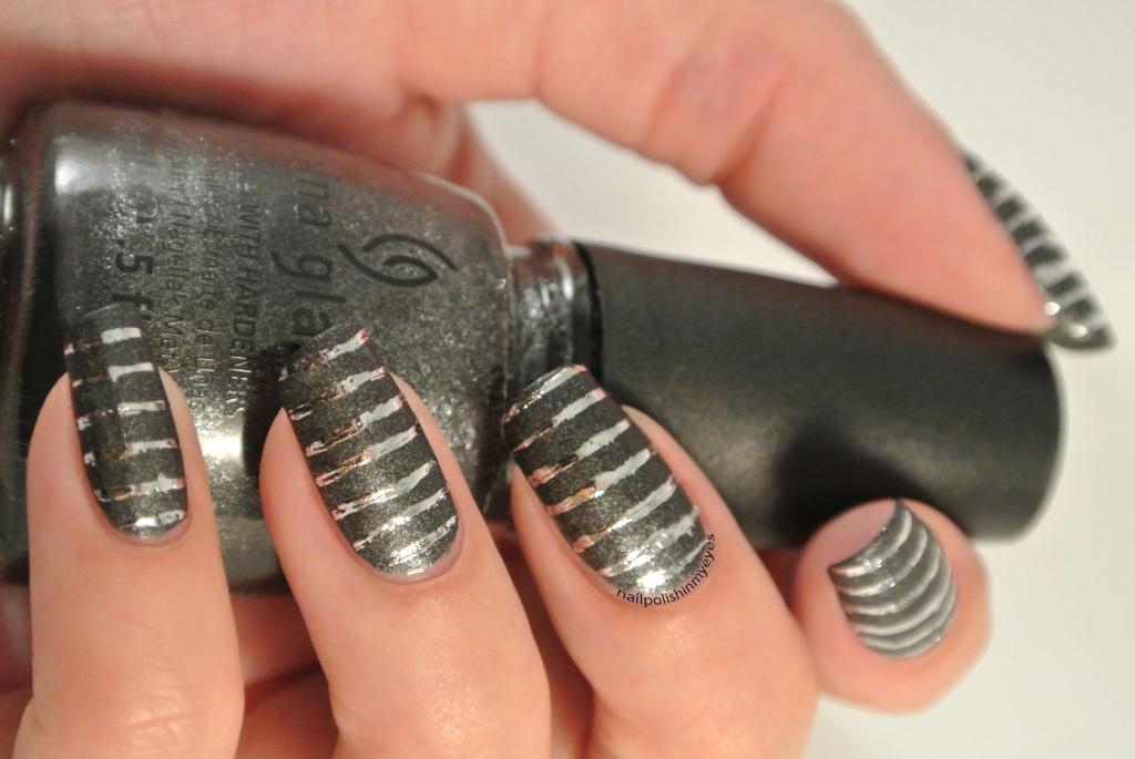 Grey-Silver-Foil-Stripes